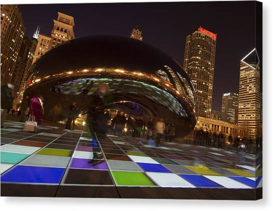Cloudgate Canvas Print - Canted Angle Cloudgate by Sven Brogren