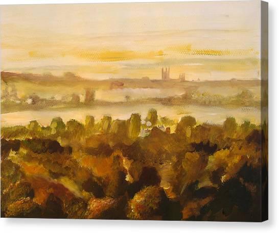 Canterbury Autumnal Haze Canvas Print by Paul Mitchell