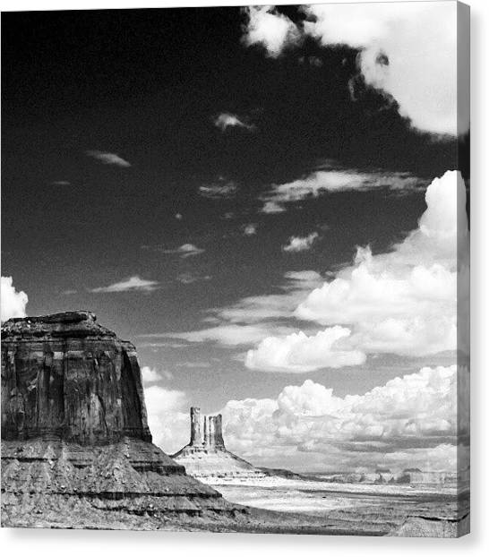 Indians Canvas Print - Canyon And Clouds by Ernesto Cinquepalmi