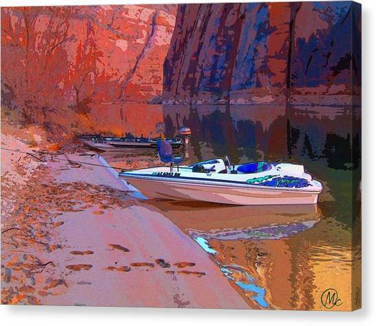 Canyon Boating Canvas Print