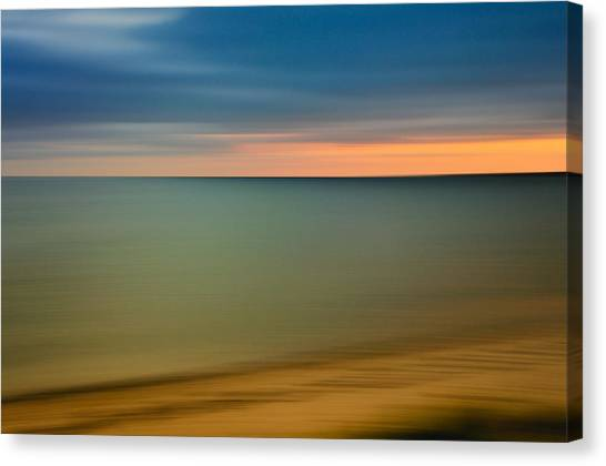 Abstract Seascape Canvas Print - Cape Cod Sunset- Abstract  by Expressive Landscapes Fine Art Photography by Thom