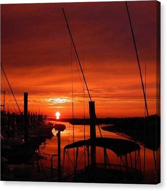 Harbors Canvas Print - Cape Cod Sunset by Edward Sobuta