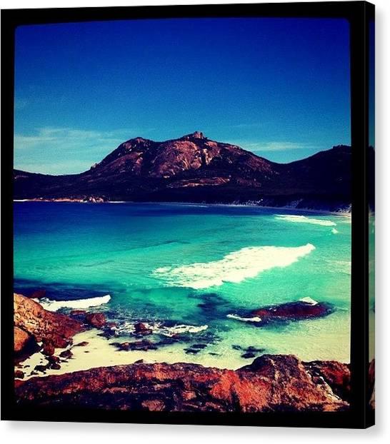 Turquoise Canvas Print - Cape Le Grand by Bonnie Mulholland
