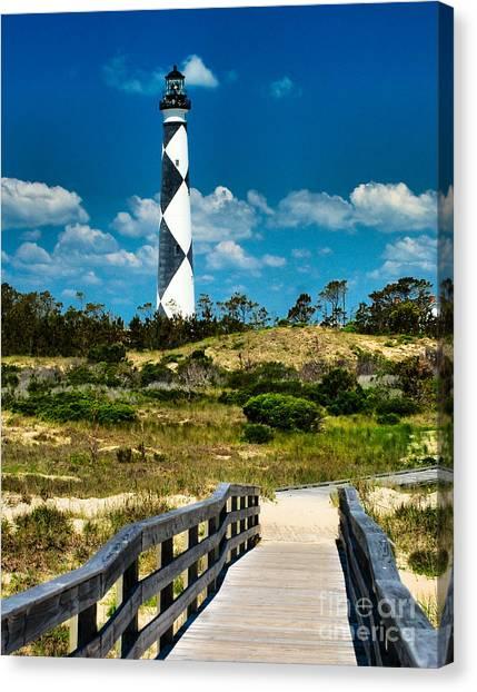 Cape Lookout Light Canvas Print