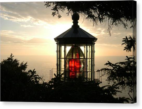Cape Meares At Sunset Canvas Print