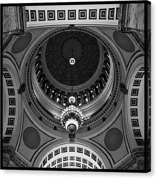 Washington Capitals Canvas Print - #capital #dome #olympia #washington by Ron Goyette