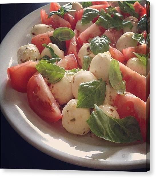 Tomato Canvas Print - Caprece Salad #caprecesalad #caprece by Jonathan Bouldin