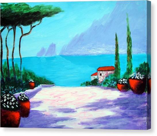 Capri Light And Color Canvas Print