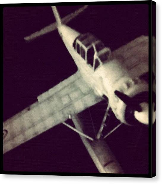 World War Ii Canvas Print - Captured Plane by Oliver Kuy