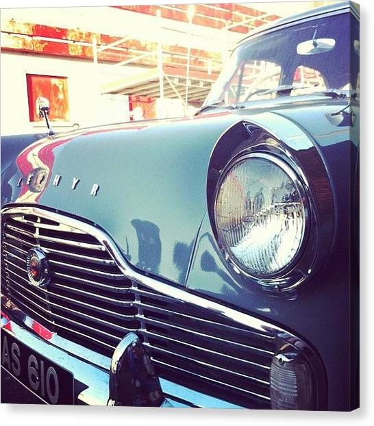 Ford Canvas Print - #car #retro #cool #green #awesome by Ben Lowe