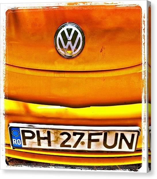 Volkswagen Canvas Print - #car #volkswagen #volkswagenbeetle by Richard Randall