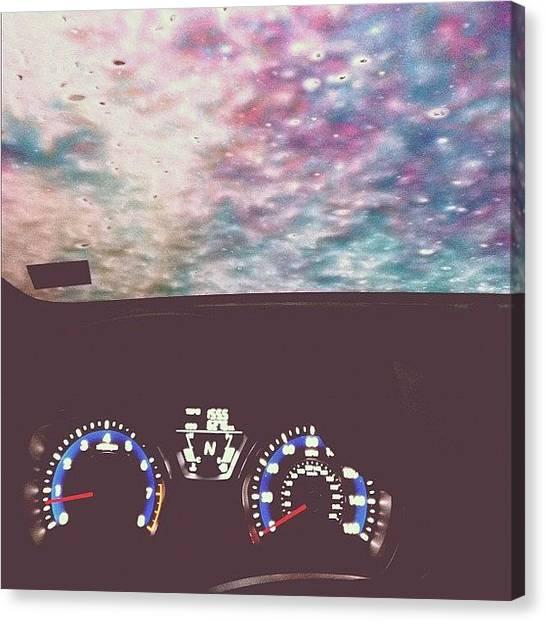 Driving Canvas Print - Car Wash by Kristenelle Coronado