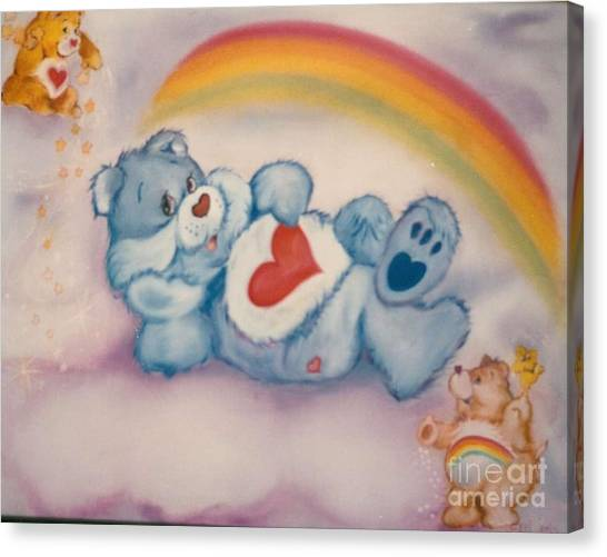 Care Bears Canvas Print - Care Bears Twinkle by Geri Jones