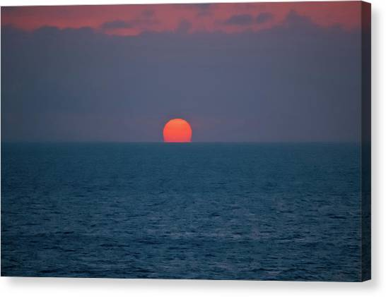 Sunset Horizon Canvas Print - Caribbean Melt by DigiArt Diaries by Vicky B Fuller