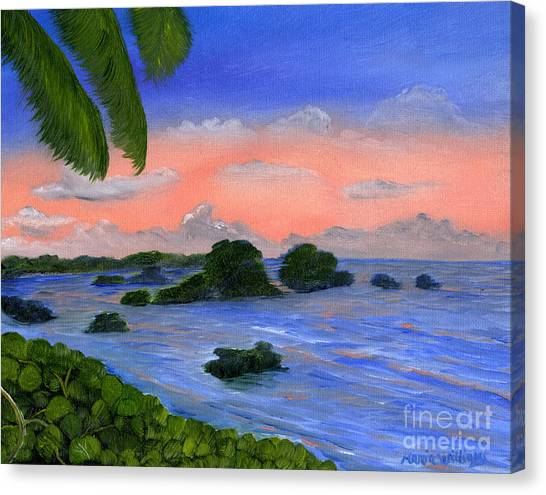 Caribbean Sky Canvas Print by Maria Williams