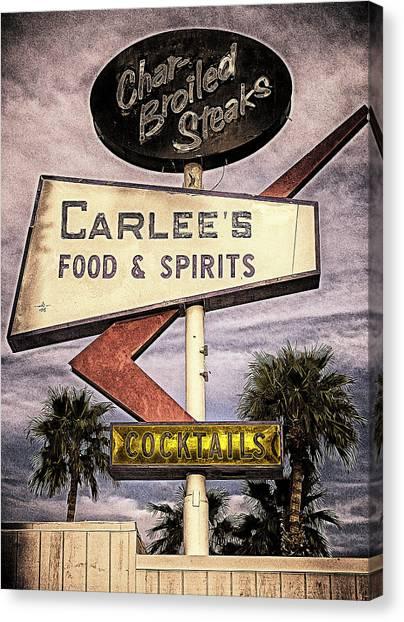 Carlees Food And Spirits Canvas Print by Ron Regalado