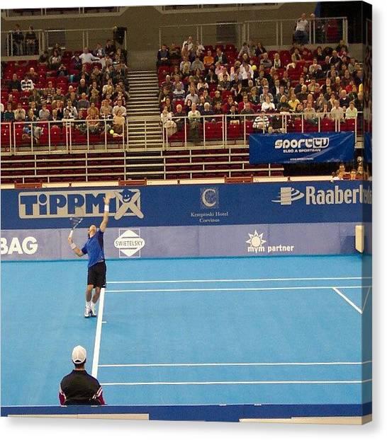 Tennis Canvas Print - Carlos Moya by Tibor Kiraly