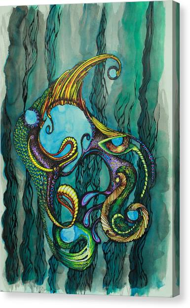 Carnival Fish 2 Canvas Print