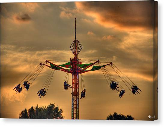 New York Red Bulls Canvas Print - Carnival Ride by Nicholas  Grunas