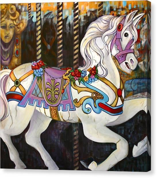 Carousel Horse Hull Massachusetts Canvas Print