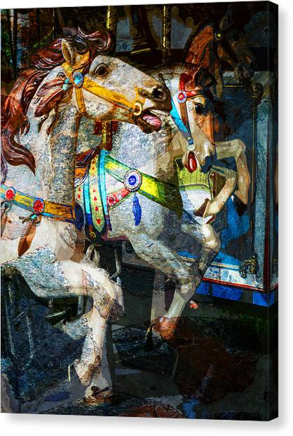 Carousel Thoroughbreds Canvas Print
