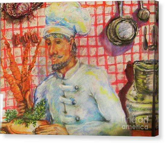 Carrot Soup Chef Canvas Print by Emily Michaud