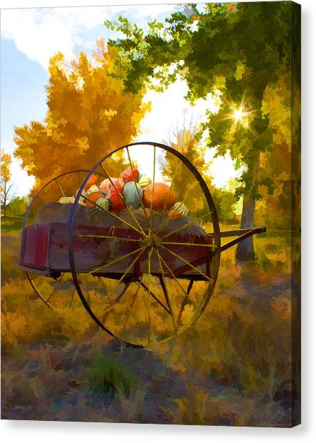 Cart Of Plenty Canvas Print