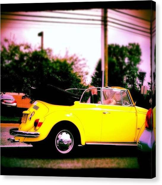 Beetles Canvas Print - #car#yellow#beetle#instabest by Adeeba Ali