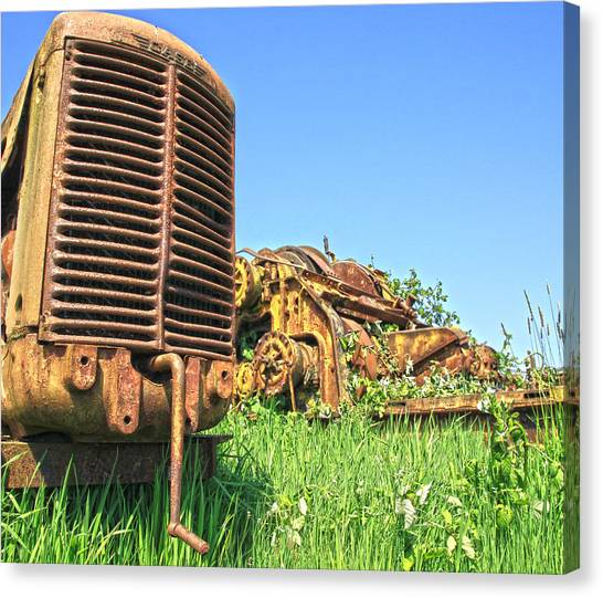 Caterpillers Canvas Print - Case Tractor by Steve McKinzie