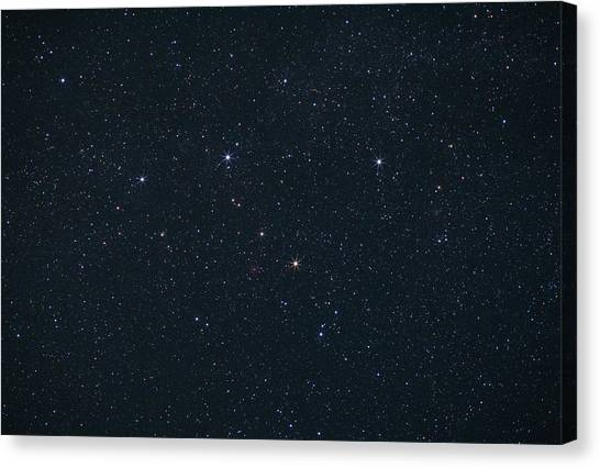 Delta Gamma Canvas Print - Cassiopeia Constellation by John Sanford