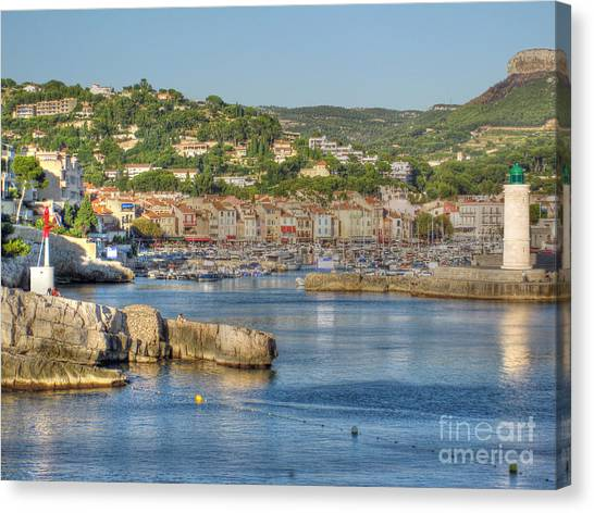 Cassis - Harbour And Lighthouse 2 Canvas Print by Rod Jones