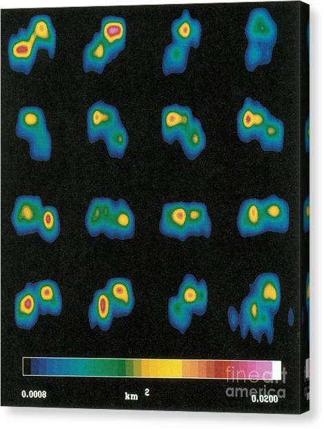 Luminous Body Canvas Print - Castalia Asteroid Sequence, False-color by Science Source