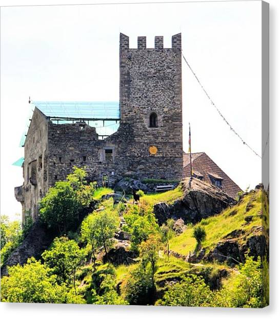 Architecture Canvas Print - Castel Juval by Luisa Azzolini
