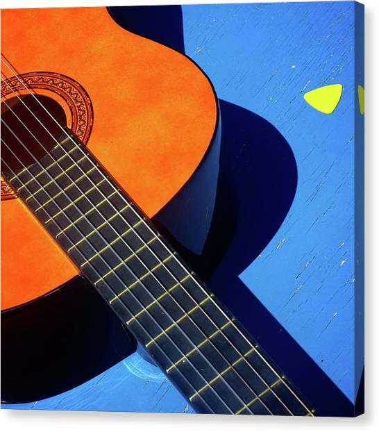Guitar Picks Canvas Print - Castilian Blues by Remi Nedelec