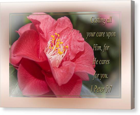 Casting All Your Care Canvas Print
