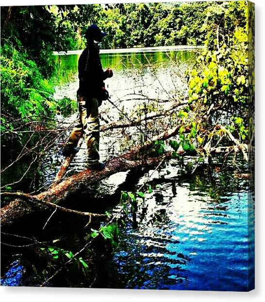 Fishing Canvas Print - #casting #angler #fishing #androidonly by Iskandar Bukan Alexander