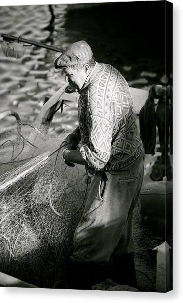 Casting The Net Canvas Print by Jez C Self