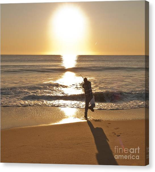Casting To The Sun Canvas Print