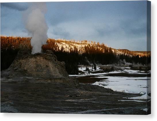 Castle Geyser Yellowstone National Park Canvas Print