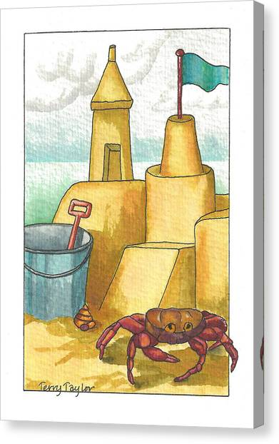 Castle In The Sand Canvas Print