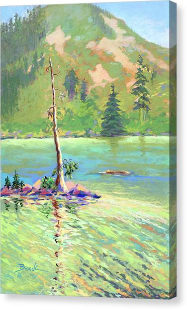 Castle Lake Canvas Print