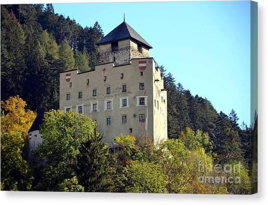 Castle Landeck In Austria Canvas Print