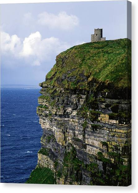 The Cliffs Of Moher Canvas Print - Castle On A Cliff, Obriens Tower by The Irish Image Collection