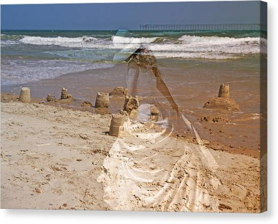 Sand Castles Canvas Print - Castles And Dreams by Betsy Knapp