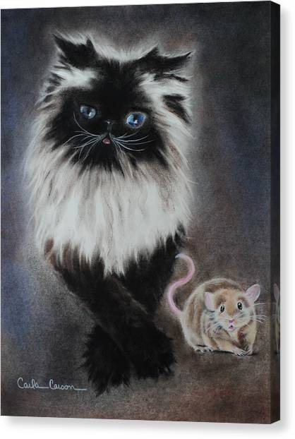 Cat N Mouse Say Cheeeeeeese Canvas Print