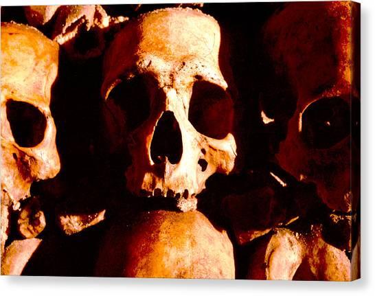 Catacombs In Paris Canvas Print