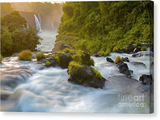 Iguazu Falls Canvas Print - Cataratas Del Iguaz by Keith Kapple