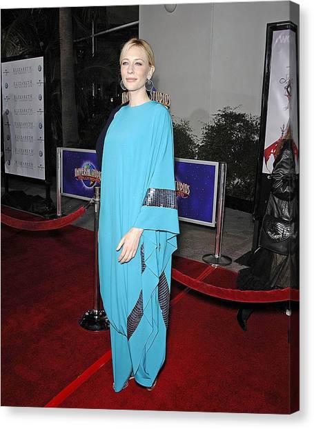 The Amphitheatre Canvas Print - Cate Blanchett Wearing Missoni by Everett