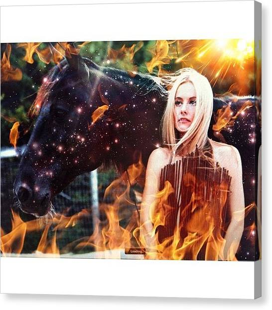 Horse Farms Canvas Print - @catg239 @fuckingfaustina  #fire by Maria Lankina