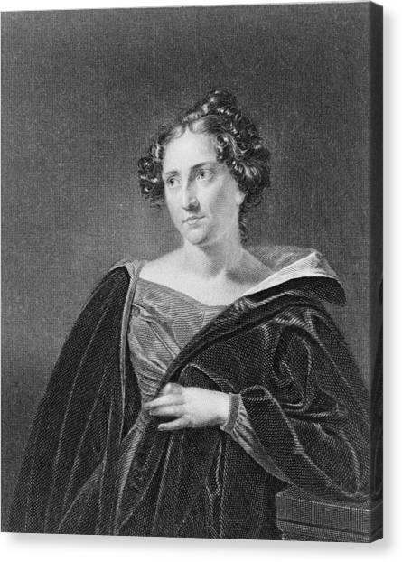 Catharine Maria Sedgwick 1789-1867 Canvas Print by Everett